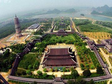 Choáng ngợp trước Bái Đính - ngôi chùa lớn nhất Đông Nam Á nhìn từ trên cao